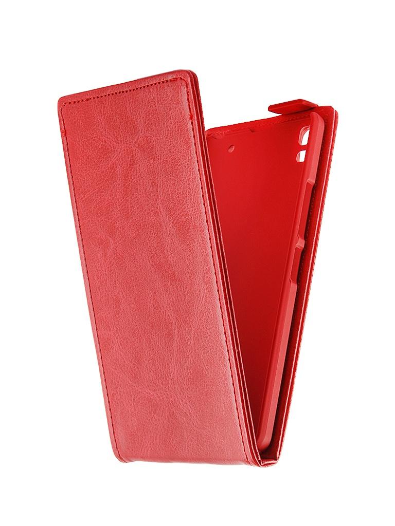 Аксессуар Чехол-флип Lenovo A7000 SkinBox Red T-F-LA7000