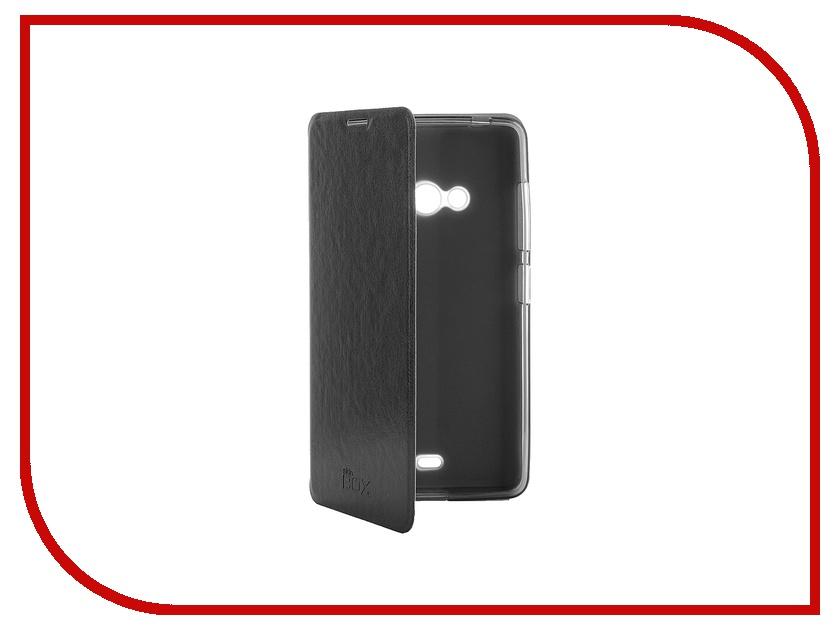 Аксессуар Чехол-книжка Microsoft Lumia 540 SkinBox Lux Black T-S-ML540-003<br>