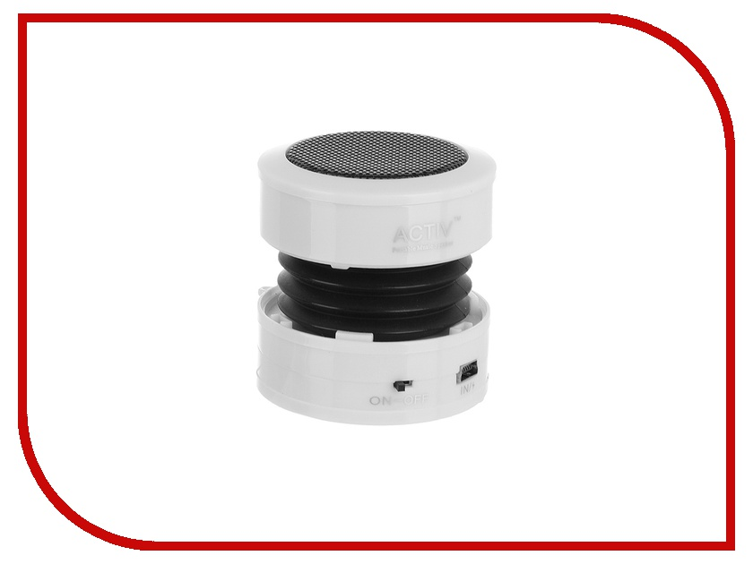 Колонка Activ ACT-MP002 White 27849 колонка activ q two blue 65948