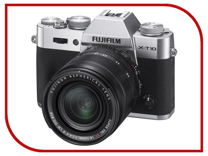 Фотоаппарат FujiFilm X-T10 Kit 18-55 mm Silver