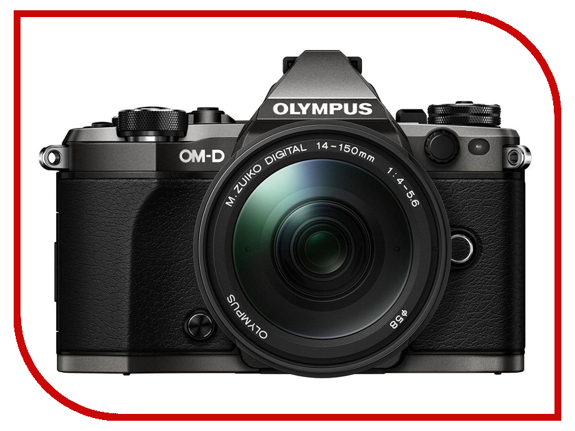 Фотоаппарат Olympus OM-D E-M5 Mark II Limited Edition Kit 14-150 mm F/4-5.6 Titanium<br>