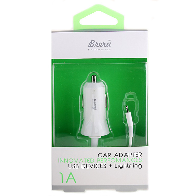Зарядное устройство Brera CAU1-1A USB + Lightning White 35982