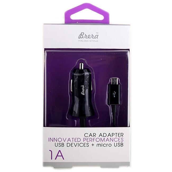 Зарядное устройство Brera CAU1-1A USB + MicroUSB Black 35979