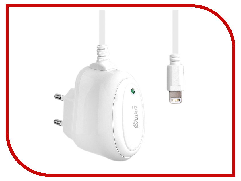 Зарядное устройство Brera Classic Lightning 1A White-White 47199<br>