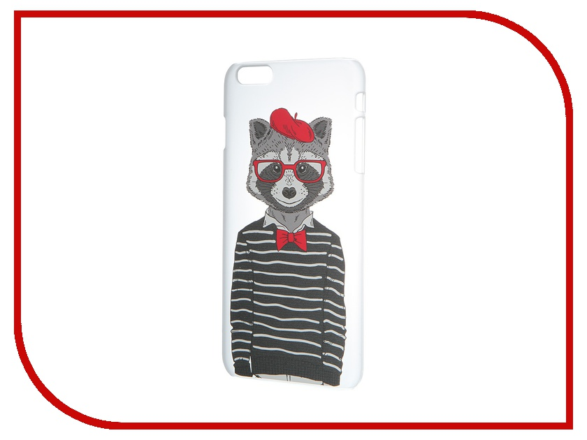 Аксессуар Чехол iPapai для iPhone 6 Plus Hipsta Animals Енот
