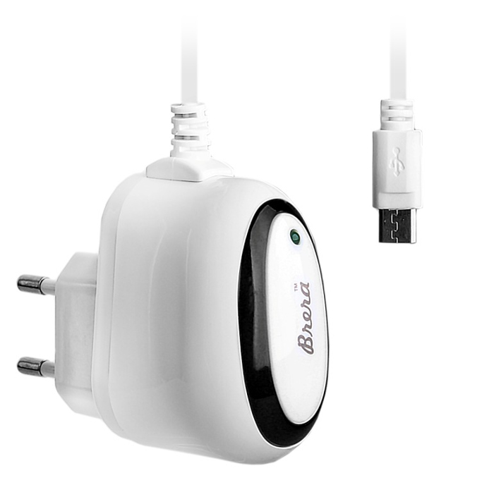 Зарядное устройство Brera Classic MicroUSB 1A White-Black 47220
