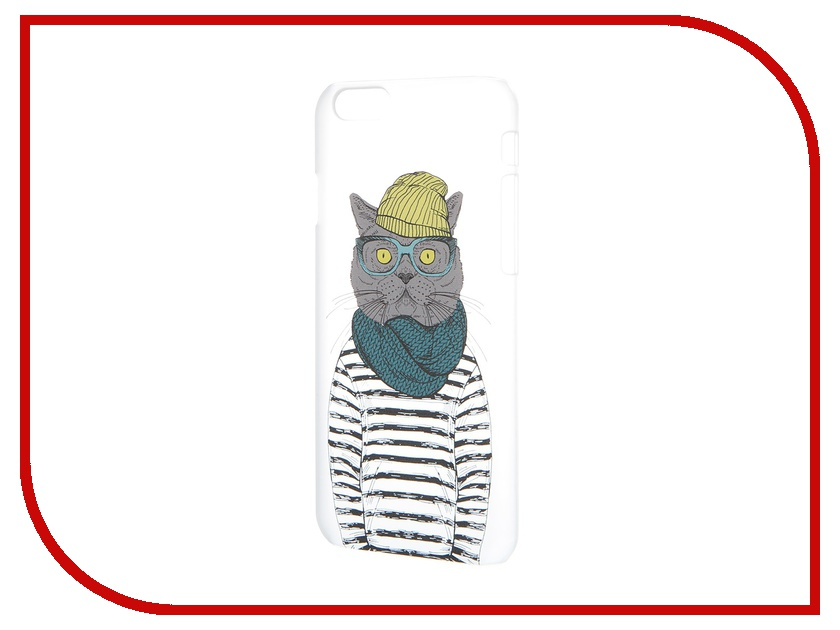 Аксессуар Чехол iPapai для iPhone 6 Hipsta Animals Кот<br>