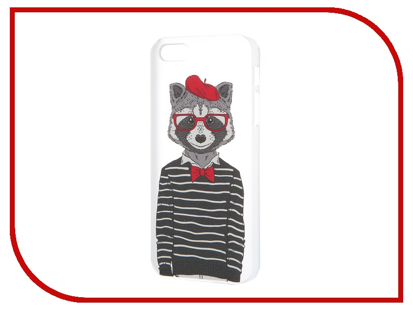 Аксессуар Чехол iPapai для iPhone 5 / 5S Hipsta Animals Енот<br>