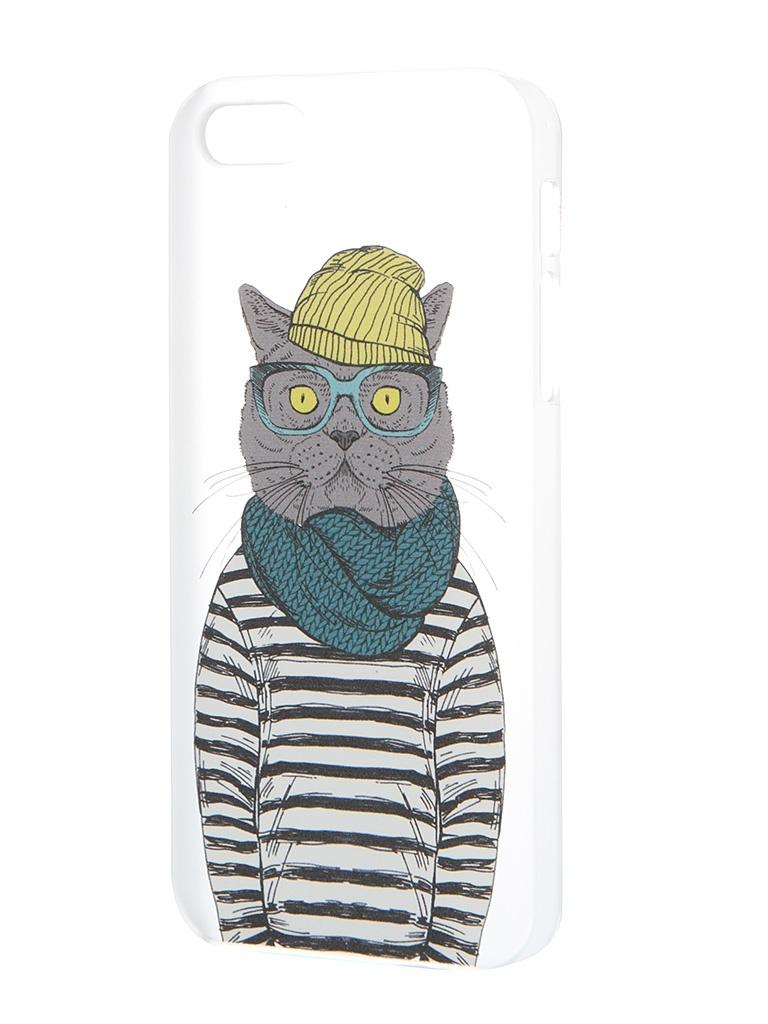 Аксессуар Чехол iPapai для iPhone 5 / 5S Hipsta Animals Кот<br>