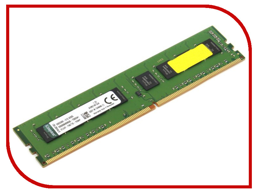 Модуль памяти Kingston DDR4 DIMM 2133MHz PC4-17000 CL15 - 4Gb KVR21N15/4<br>