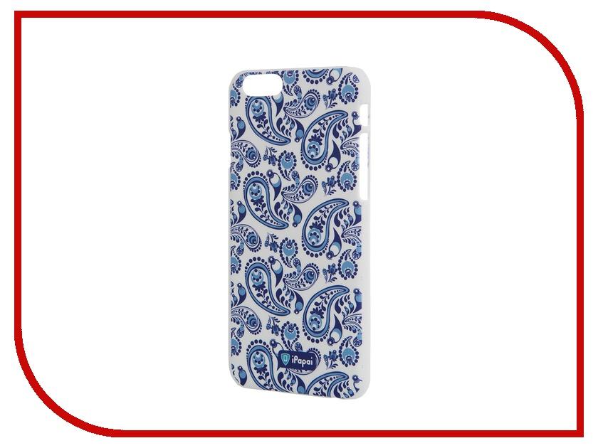 Аксессуар Чехол iPapai для iPhone 6 Plus Гжель White<br>