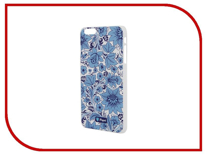 все цены на Аксессуар Чехол iPapai для iPhone 6 Plus Хохлома Light Blue онлайн