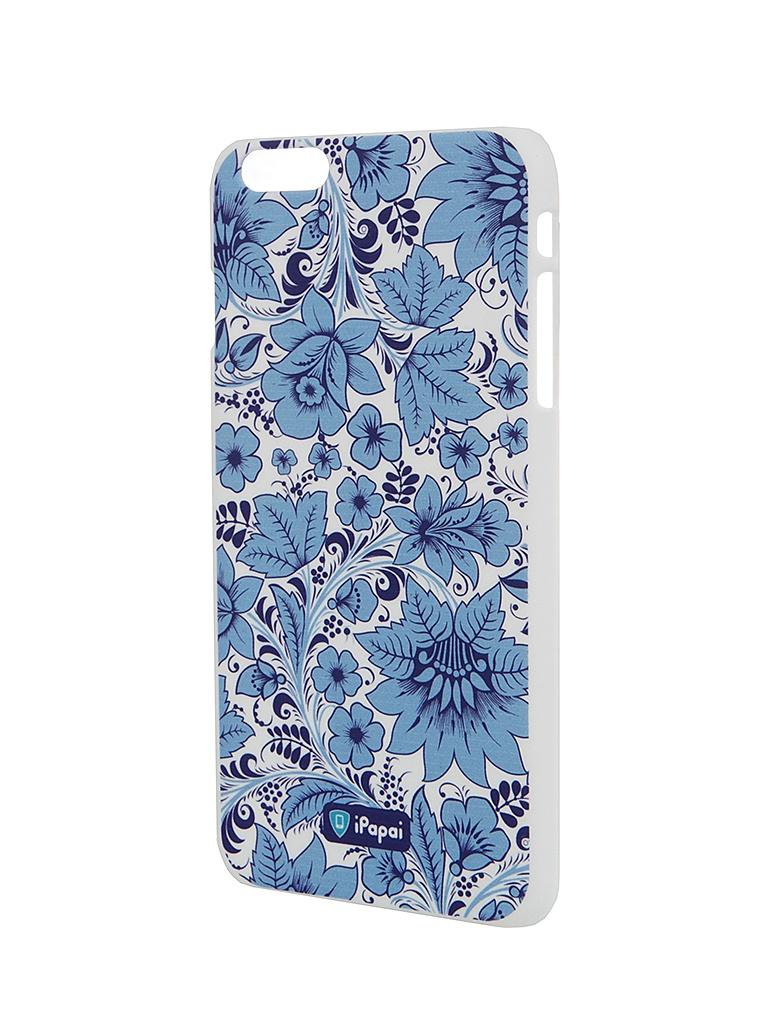 Аксессуар Чехол iPapai для iPhone 6 Plus Хохлома Light Blue<br>