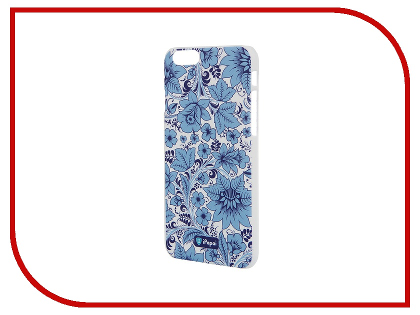 цена на Аксессуар Чехол iPapai для iPhone 6 Хохлома Light Blue