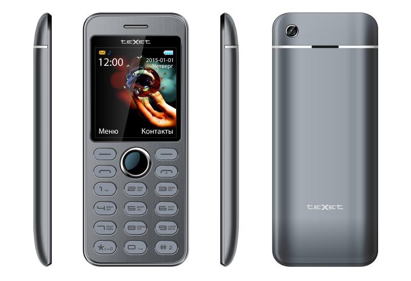 Сотовый телефон teXet TM-224 Grey<br>