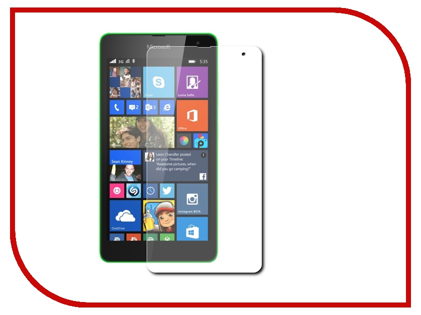 Аксессуар Защитная плёнка Microsoft Lumia 535 Activ матовая 48384