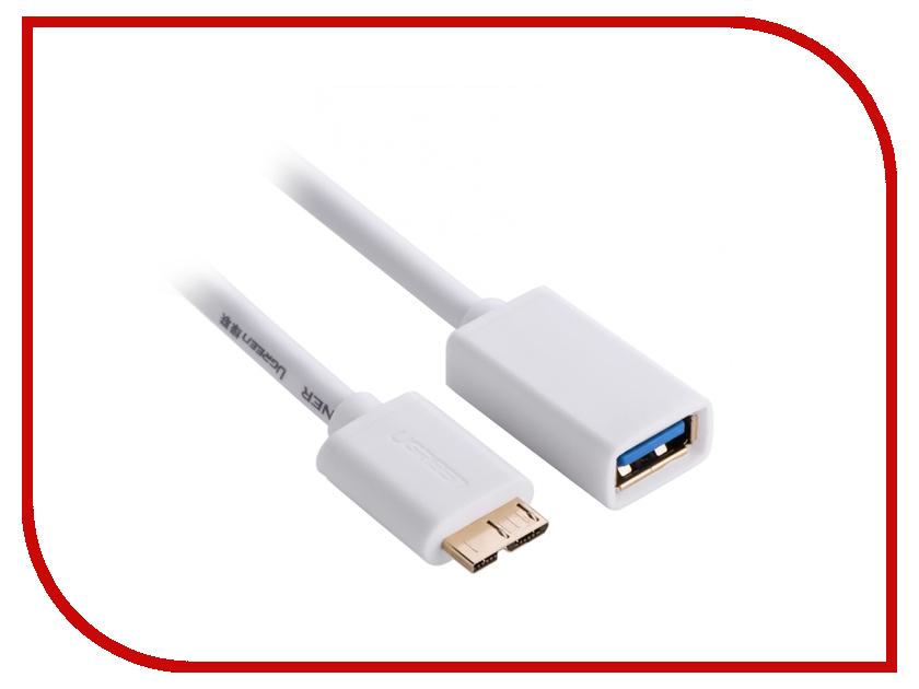 Аксессуар Ugreen Premium Micro USB 3.0 - USB AF OTG 0.2m White UG-10817  цена