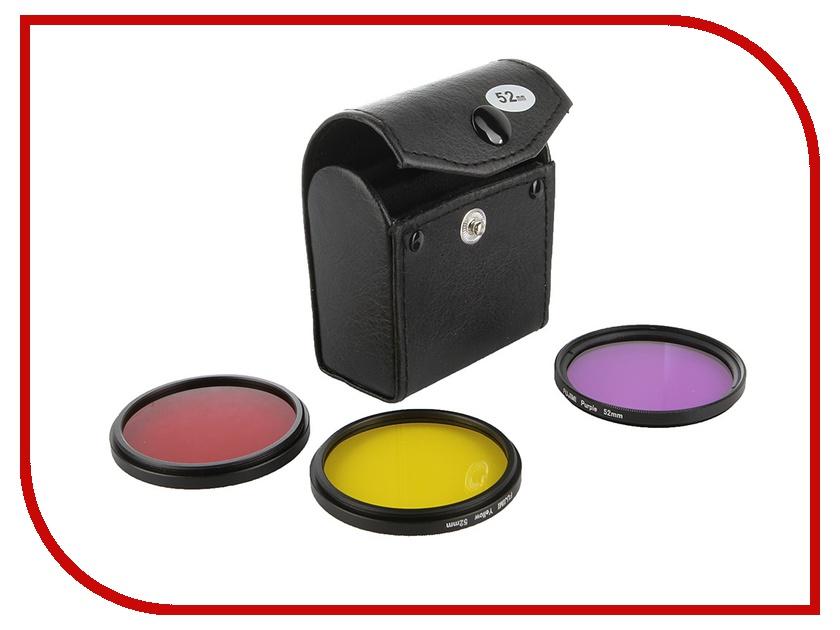 Аксессуар Fujimi GP 3FSRPY52 Набор цветных фильтров с чехлом Red/Purple/Yellow для GoPro аксессуар fujimi gp brk 005 для gopro набор креплений и клейких лент