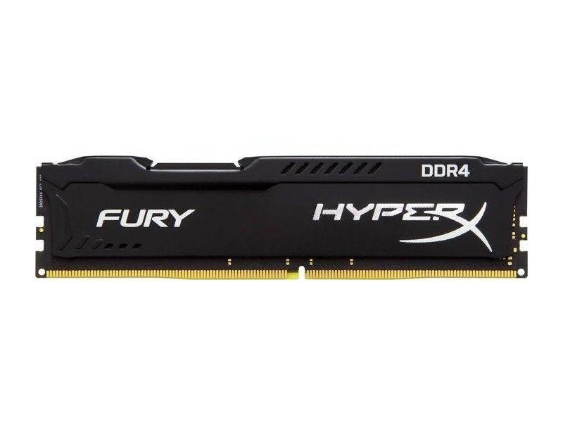 Модуль памяти Kingston HyperX Fury Black DDR4 DIMM 2400MHz PC4-19200 CL15 - 4Gb HX424C15FB/4