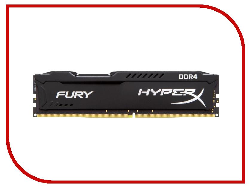 Модуль памяти Kingston HyperX Fury DDR4 DIMM 2666MHz PC4-21300 CL15 - 8Gb HX426C15FB/8
