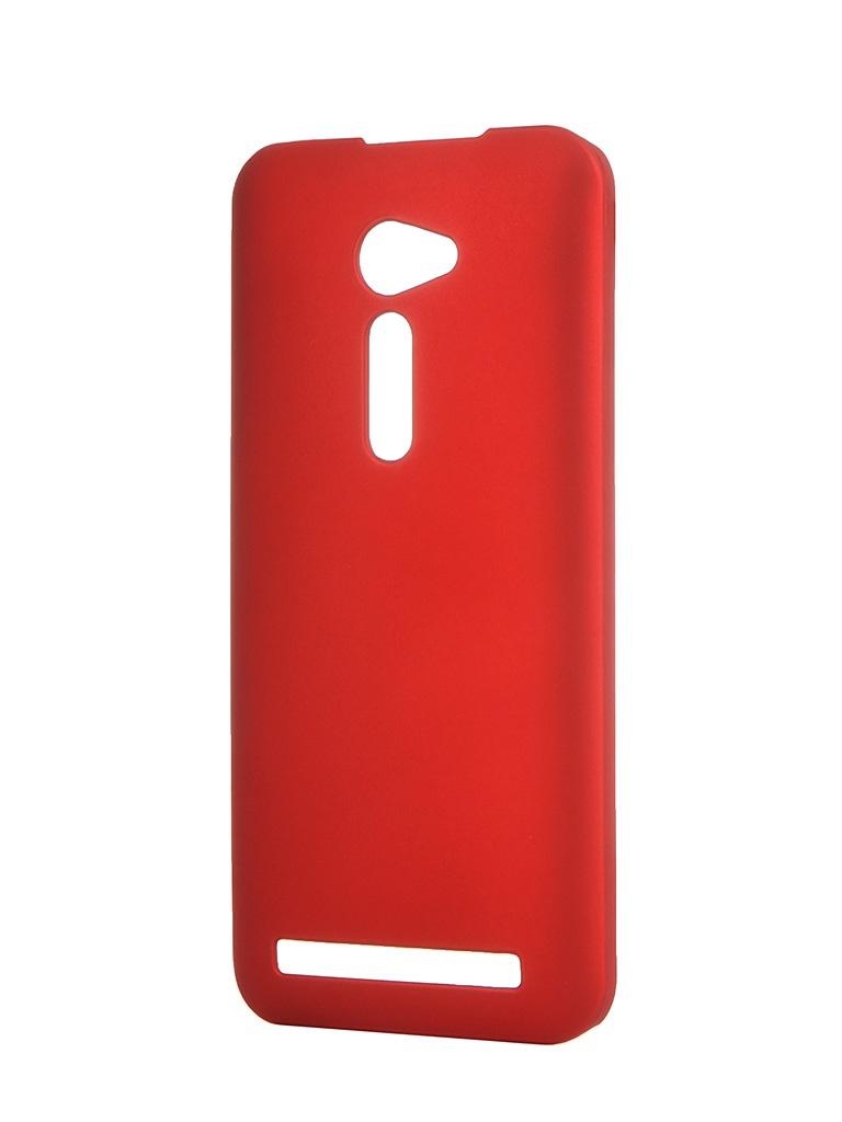 Аксессуар Чехол ASUS ZenFone 2 ZE500CL SkinBox 4People Red T-S-AZ25-002<br>