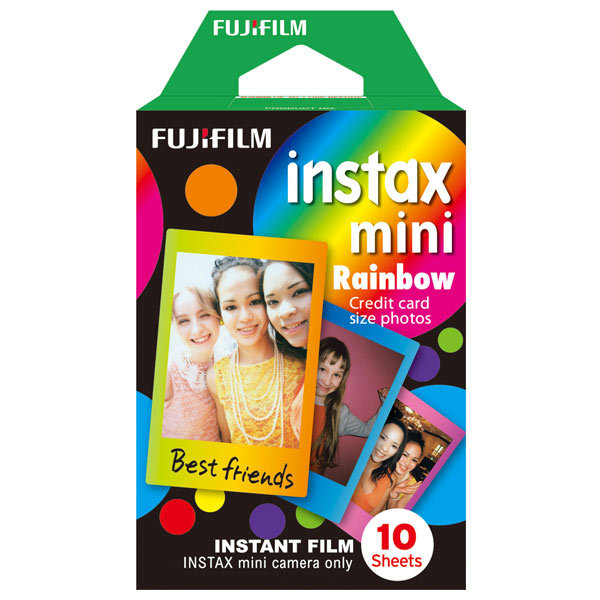 Fujifilm Colorfilm Instax Mini Rainbow для Instax Mini 8/7S/25/50S/90 / Polaroid 300 Instant16276405 original fujifilm 10 sheets instax mini stripe instant film photo paper for instax mini 8 7s 25 50s 90 9 sp 1 sp 2 camera