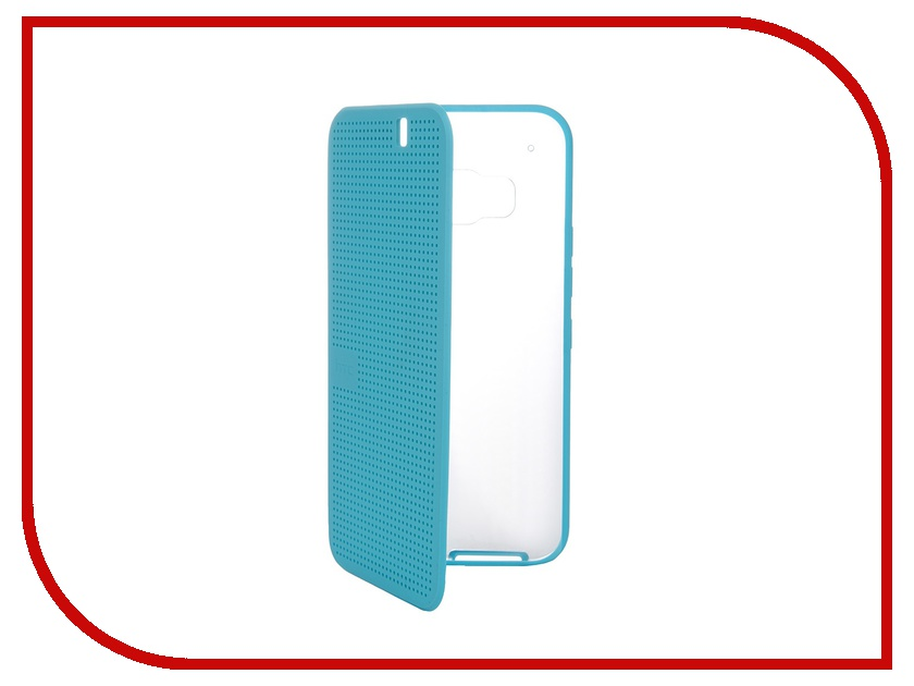 Аксессуар Чехол HTC One M9 Dot View Ice Premium HC M232 Turquoise Blue<br>
