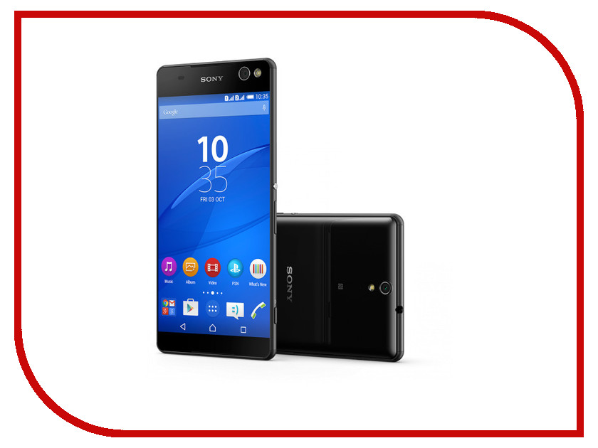 Сотовый телефон Sony E5533 Xperia C5 Ultra Dual Black<br>