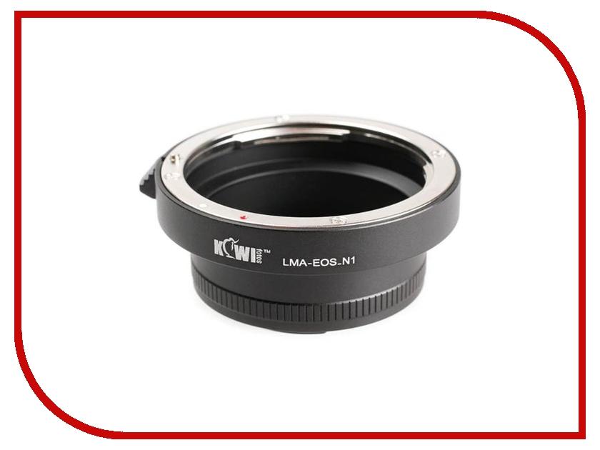 Переходное кольцо JJC KIWIFOTOS LMA-EOS_N1 for Canon EF - Nikon 1<br>
