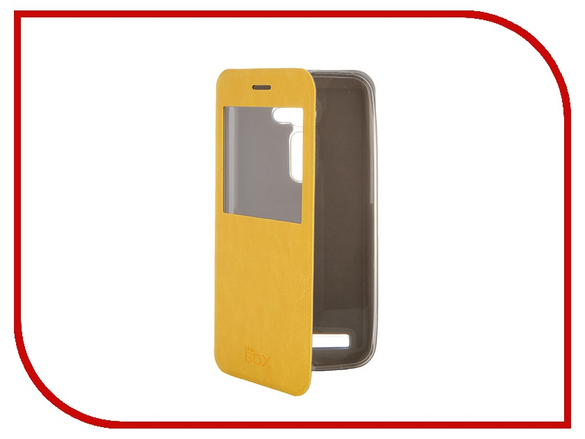 Аксессуар Чехол ASUS ZenFone 2 ZE500C SkinBox Lux AW Yellow T-S-AZE550CL-004<br>