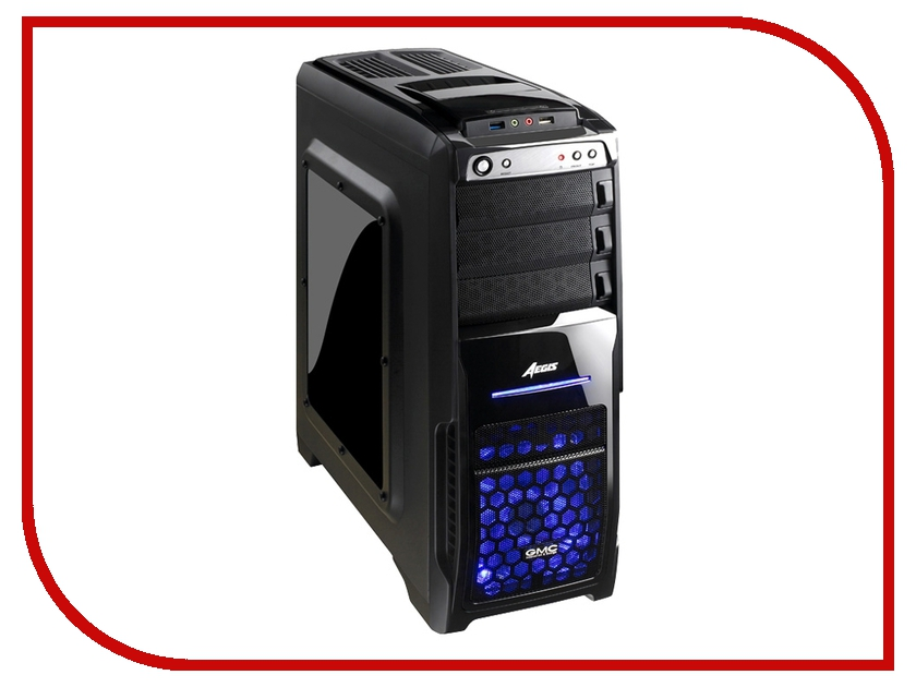 Корпус GMC Aegis Pro w/o PSU Black<br>
