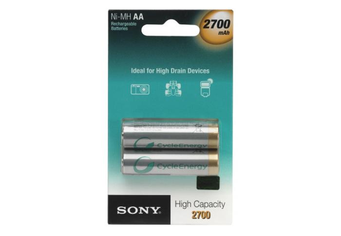 Аккумулятор AA - Sony HR6 2-BL Ni-MH 2700 mAh (2 штуки) NH-AA-B2FN 14351<br>