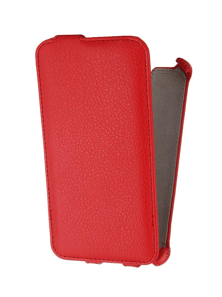 Аксессуар Чехол-флип Philips V387 Activ Leather Red 46544<br>