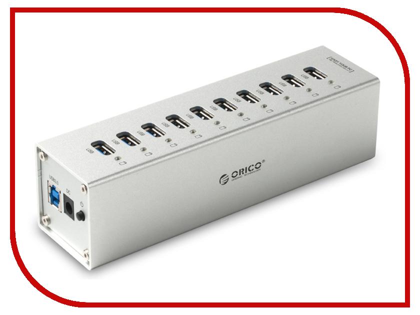 Orico A3H10-SV USB 10-Ports Silver<br>