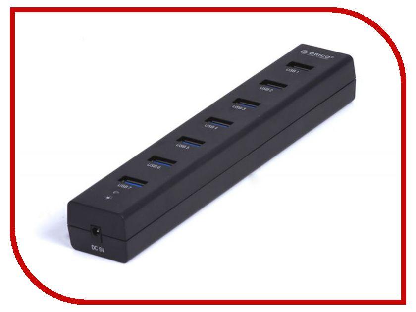 Хаб USB Orico H7013-U3-BK 7-Ports Black хаб usb orico u3r1h4 bk 4 ports black