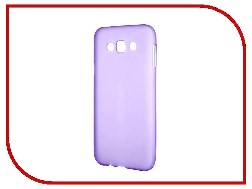 Аксессуар Чехол-накладка Samsung Galaxy SM-E700 E7 Activ Silicone Purple Mat 46702