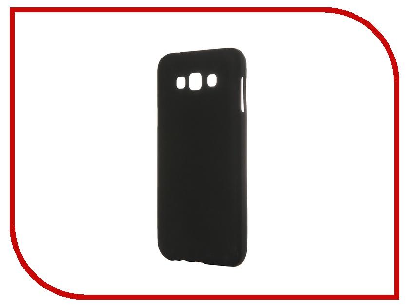 Аксессуар Чехол-накладка Samsung Galaxy SM-E700 E7 Activ Silicone Black Mat 46682<br>