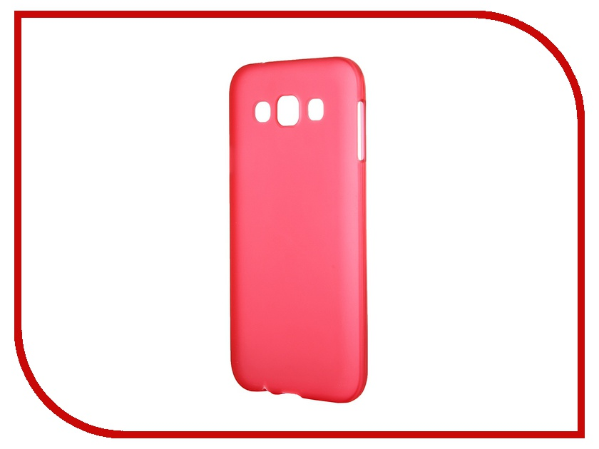 Аксессуар Чехол-накладка Samsung Galaxy SM-E500 E5 Activ Silicone Red Mat 46698