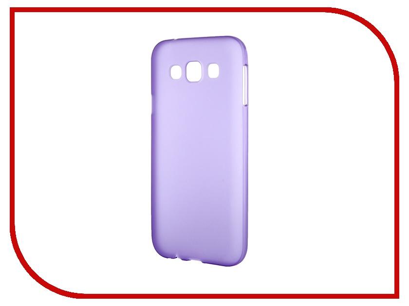 Аксессуар Чехол-накладка Samsung Galaxy SM-E500 E5 Activ Silicone Purple Mat 46697 аксессуар чехол накладка samsung galaxy sm a700 a7 activ silicone black mat 46687