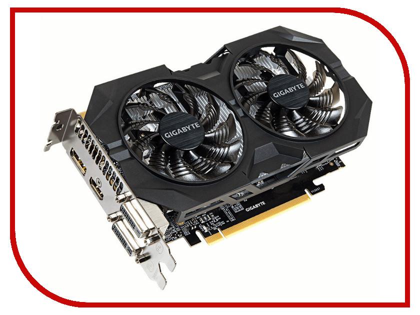 Видеокарта GigaByte GeForce GTX 950 1279Mhz PCI-E 3.0 2048Mb 6610Mhz 128 bit DVI HDMI HDCP GV-N950WF2OC-2GD<br>