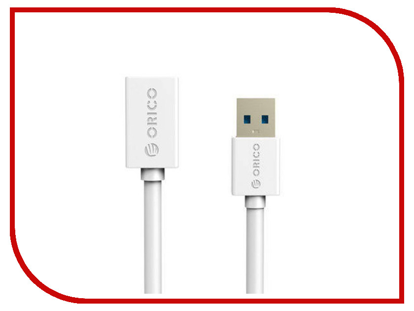Аксессуар Orico USB (M) to USB (F) CER3-15-WH White
