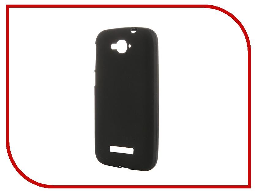 Аксессуар Чехол-накладка Activ for Alcatel Pop C7 OT7041 силиконовый Black Mat 46645<br>