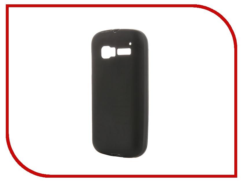 Аксессуар Чехол-накладка Activ for Alcatel Pop C5 OT5036 силиконовый Black Mat 41089<br>
