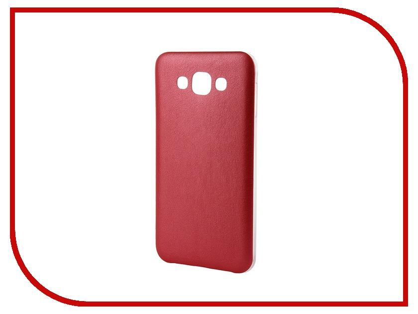 Аксессуар ЧехолActiv for Samsung Galaxy SM-E700 E7 HiCase силиконовый Red 48202