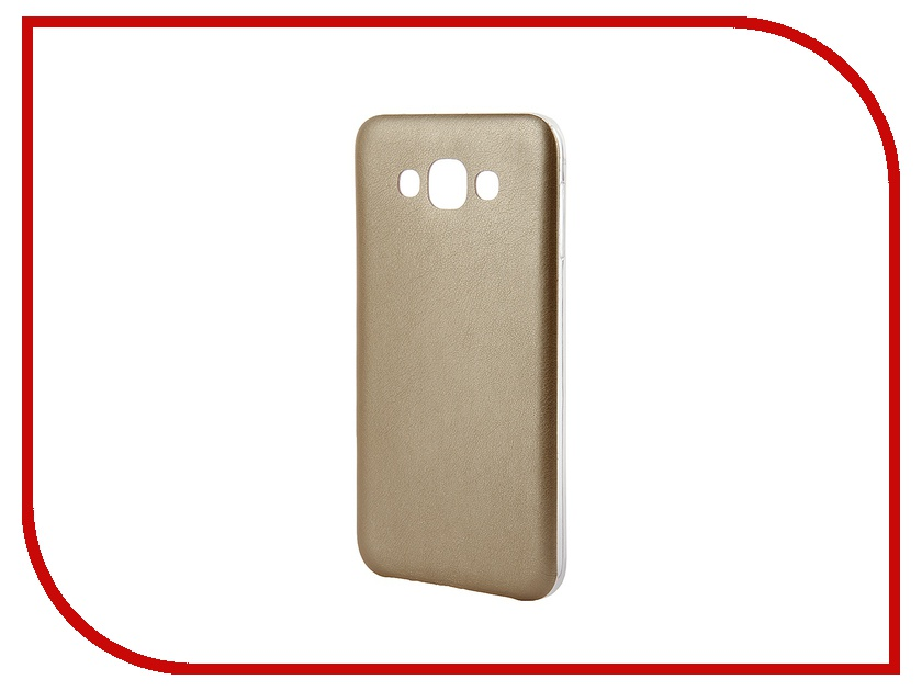 Аксессуар Чехол Activ for Samsung Galaxy SM-E700 E7 HiCase силиконовый Gold 48201