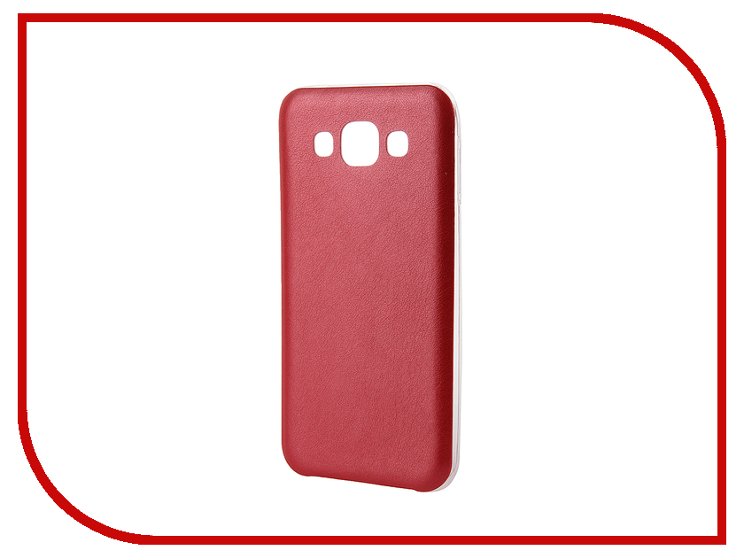 Аксессуар Чехол Activ for Samsung Galaxy SM-E500 E5 HiCase силиконовый Red 48198 аксессуар чехол samsung galaxy a3 2017 sm a320 activ t leather blue 71565