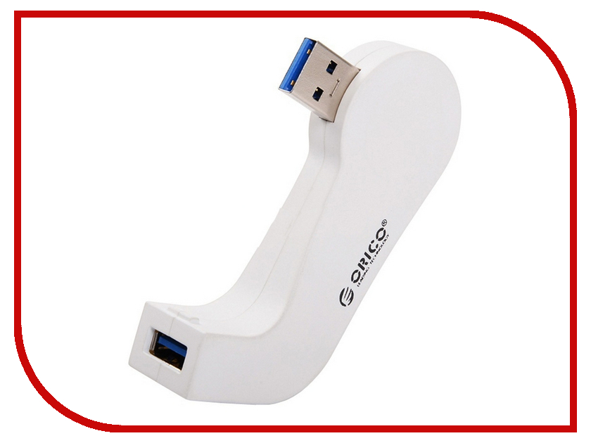 Хаб USB Orico DM1U-WH White