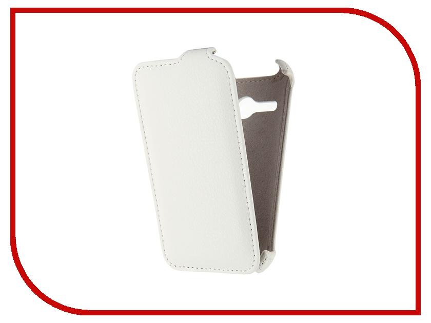Аксессуар Чехол-флип Alcatel Pop D3 Activ White 47737 чехол флип для alcatel pop s7 7045y белый armorjacket