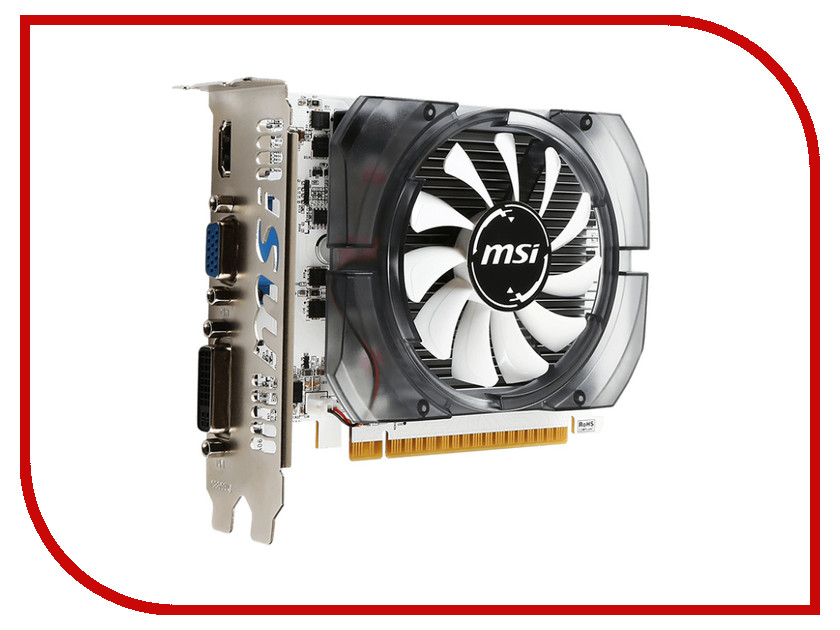 Видеокарта MSI GeForce GT 730 700Mhz PCI-E 2.0 2048Mb 1000Mhz 128 bit DVI HDMI HDCP N730-2GD3V2