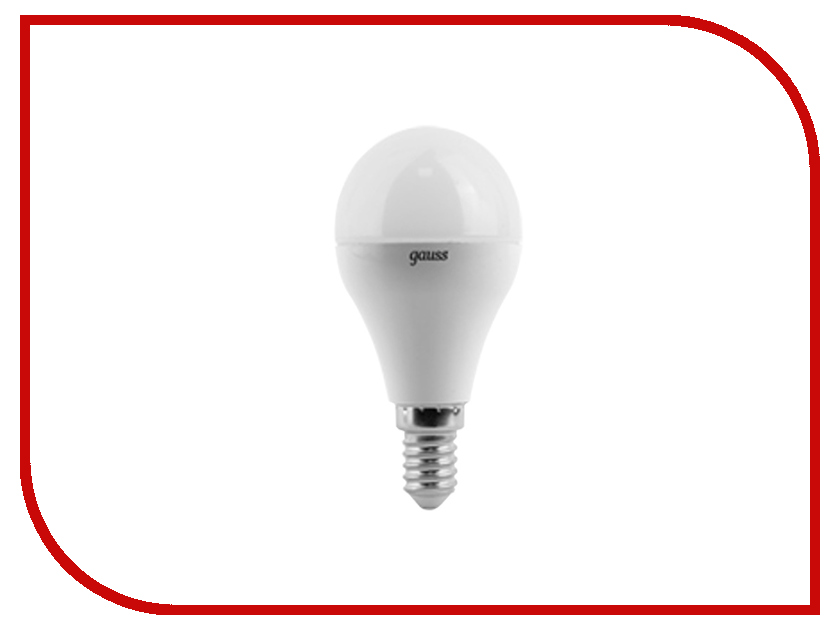 Лампочка Gauss LED Globe E14 6.5W 100-240V 4100K 105101207